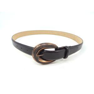 Sandy Duftler Accessories - Sandy Duftler Black Leather Metal Buckle Belt